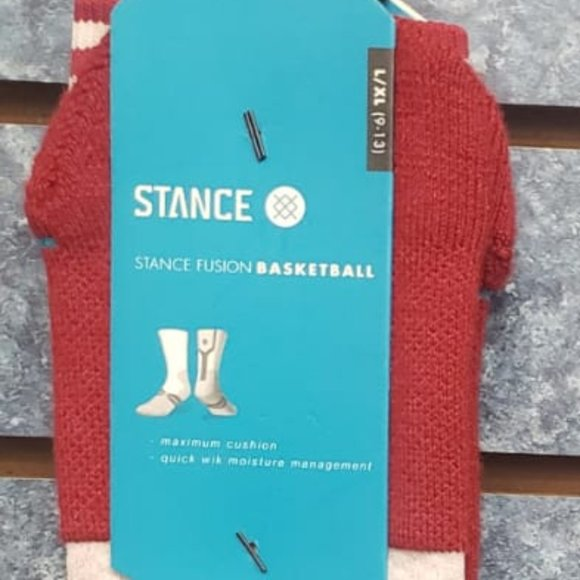 Stance Drop Zone FL Red Socks   Size Large/XL 9-13